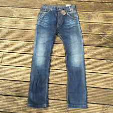 PEPE RARE PYRO HAND DESTROYED DROP CRUTCH JEANS 32x34 32/34 32L 100% AUTHENTIC