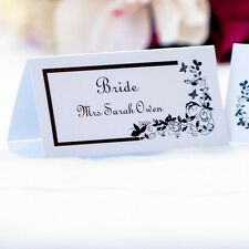 5 x Personalised Place Cards – Weddings etc  – Butterfly Flourish