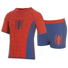 Spiderman Swimsuit Swimming Costume Kids Childs Boys Girls Swim Suit Top Shorts