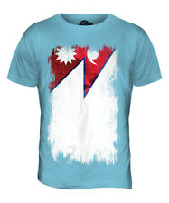 NEPAL GRUNGE FLAG MENS T-SHIRT TEE TOP NEP?LA NEPALI NEPALESE SHIRT FOOTBALL