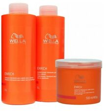 Wella Enrich Shampoo, Conditioner,Mask For Coarse and Normal Hair 1000ml & 500ml