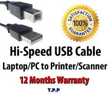 Hi-Speed USB Cable Lead For Connecting Printer / Scanner to Laptop Notebook PC