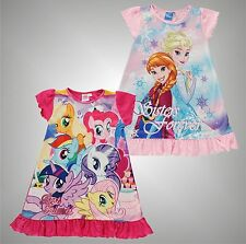 Infant Girls Branded Character Graphic Print Soft Touch Nightdress Size Age 2-8