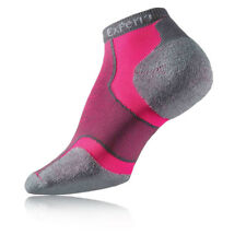 Thorlo Experia Ultra Light Micro Mini Mens Pink Grey Running Anklet Socks