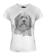 OLD ENGLISH SHEEPDOG SKETCH LADIES PRINTED T-SHIRT TOP GREAT GIFT FOR DOG LOVER
