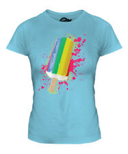 GAY PRIDE ICE LOLLY LADIES T-SHIRT FLAG TOP GAY RIGHTS MARRIAGE LESBIAN BISEXUAL