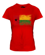 GUINEA BISSAU DISTRESSED FLAG LADIES T-SHIRT TOP GUINE-BISSAU FOOTBALL GUINEAN