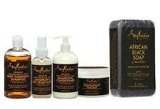 SHEA MOISTURE AFRICAN BLACK SOAP SHAMPOO/CONDITIONER/MASQUE/ELIXIR
