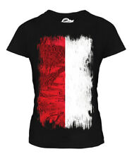 INDONESIA GRUNGE FLAG LADIES T-SHIRT TOP INDONESIAN SHIRT FOOTBALL JERSEY GIFT