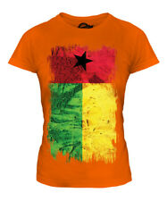 GUINEA BISSAU GRUNGE FLAG LADIES T-SHIRT TEE TOP GUINE-BISSAU FOOTBALL GUINEAN