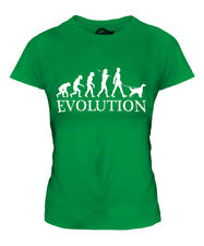 ENGLISH SETTER EVOLUTION OF MAN LADIES T-SHIRT TEE TOP DOG LOVER GIFT WALKER