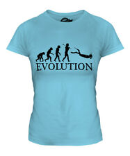SCUBA DIVING EVOLUTION OF MAN LADIES T-SHIRT TEE TOP GIFT DIVER