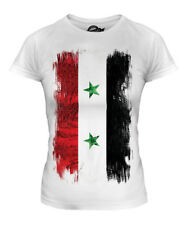 SYRIA GRUNGE FLAG LADIES T-SHIRT TEE TOP SURIYAH FOOTBALL SYRIAN GIFT SHIRT