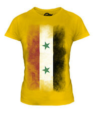 SYRIA FADED FLAG LADIES T-SHIRT TEE TOP SURIYAH FOOTBALL SYRIAN GIFT SHIRT