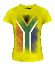 SOUTH AFRICA FADED FLAG LADIES T-SHIRT TOP SUID-AFRIKA FOOTBALL AFRICAN SHIRT