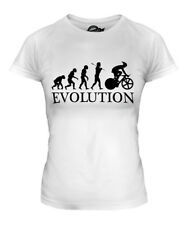 CYCLE RACING EVOLUTION OF MAN LADIES T-SHIRT TOP GIFT CYCLIST BICYCLE CYCLING