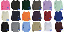 Oversized Ladies Women Loose Baggy Chunky Knitted Jumper Top Thick Sweater S-XL