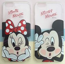Disney Mickey Minnie Mouse iPhone Samsung Soft Gel Silicon Mobile Phone Case