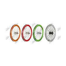 "RUOTE PISTA SCATTO FISSO 20"" FIXED SINGLE SPEED BICI WHEELS"
