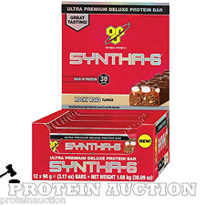 12 x 90g BSN Syntha 6 Protein Bars Whey 33g Protein / Bar Short Dated Discount