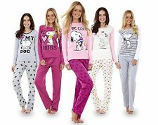 Ladies Long Sleeve Snoopy Pyjama Set Womens Mickey Minnie Mouse PJ's Nightwear