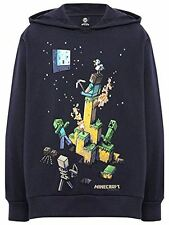 Official Licensed MINECRAFT Tight Spot Hoodie Navy Youth Mine Craft Hoody