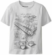 MINECRAFT Official Licensed Mine Craft TNT BLUEPRINT T-Shirt Grey Youth T Shirt