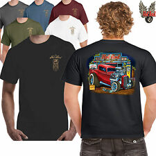 Hot rod 58 Herren Garage Auto T-Shirt American Ford Pop Chevy V8 Ratte Gas
