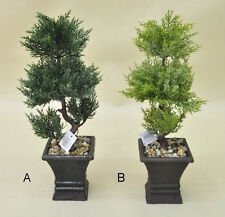 Bonsai Tree in Square Pot, Artificial Plant Decoration for Office and Home 41 cm