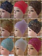 LADIES LACE BANDS NET / BONNET / BONE / CAP HIJAB UNDER SCARF FANCY DRESS
