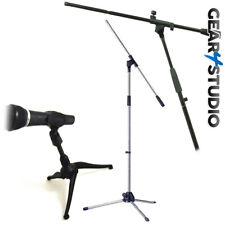 Microphone Mic Stand Desktop and Floor standing Black/Silver for Stage Karaoke