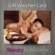 Gift Voucher Beauty Salon Blank Card Coupon Massage Therapist A7 + Env.