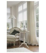 "1 pair Natural 100% cotton canvas curtain with thermal blackout lining, 55""x90"""