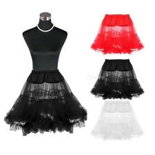 Vintage Retro 3 colour Tutu Rock Roll Petticoat Underskirt Fancy Wedding