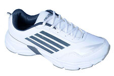 Columbus Brand Mens White,Grey Casual Sports Shoes Ady Prone 1