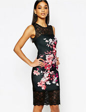 Ladies Sexy Bodycon Party Dress Cocktail Floral Dresses Size 10 12 14