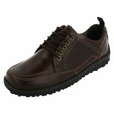 """MENS HUSH PUPPIES BROWN LEATHER LACE-UP SHOES """"BELFAST OXFORD""""/H103361"""