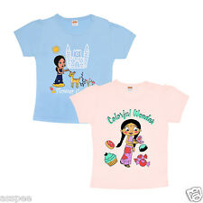 Chhota Bheem Fame Chutki Printed Cotton Baby Girls Casual T-Shirt - Pack of 2