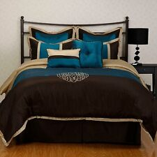 Phoebe Brown Embroidered Oversize 8-piece Comforter Set
