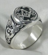 ANELLO MASSONICO IN ARGENTO 925 STERLING SILVER FREEMASONS MASONIC RING