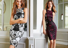 Ladies Sexy Floral Evening Party Bodycon Cocktail Prom Dress Size 12 14