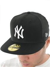 New Era Black-White New York Yankees Fitted Cap
