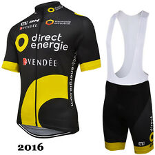 Ropa de ciclismo: Direct Energie, Tour 2016, maillot cycling jersey bib shorts