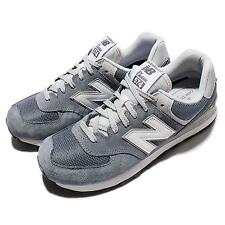 New Balance ML574VIA D Grey White Suede Mens Running Shoes Sneakers ML574VIAD