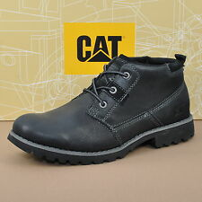 Caterpillar Cat Footwear Harold Uomo Stivali in pelle scarpe Black p718500