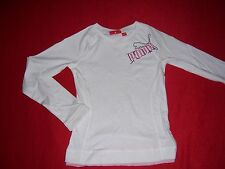 TEE SHIRT fille manches longues neuf Puma taille 6 ans ou 8 ans coloris blanc