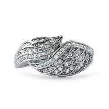 Sterling Silver CZ Hand Made Angel Wing Fashion Ring for Women