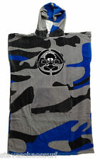 Saltrock Surf Boys Beach Towelling Changing Robe NEW swimming grey blue Camo