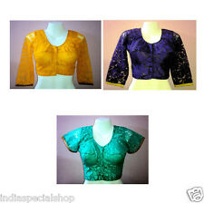Readymade Bra Cut Designer Net Saree Blouse Assorted Colour & Size