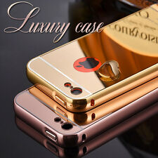 Aluminum Metal Frame Slim Bumper Back Cover Case For iPhone 5S, 5 & 6S, 6
